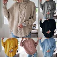 Women Knitted Twist Sweater  Bat Sleeve Sweaters Fashion  Casual Pullovers Tops