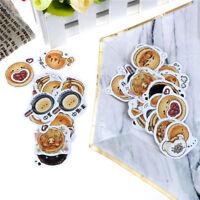 45x/Box Creative Bread Paper Sticker Decor DIY Stationery Diary Label>Sticker XR