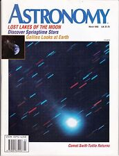 Astronomy Magazine March 1993, Lost Lunar Lakes, Galileo Returns, Comet