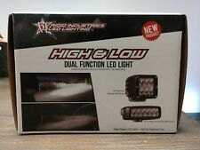 NEW PAIR Rigid Industries 50231 H D2 Series Dual High Low Driving Lights RZR