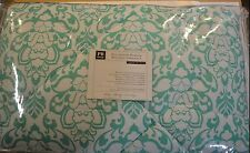 5 Pcs Pottery Barn Teen Damask Bedding Set Comforter Sheets XL Twin Pool #142