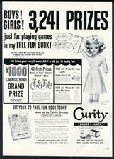 1952 Miss Curity nurse doll photo Curity bandages vintage print ad