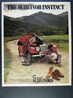 1983 Herman Survivors shoes boots MG TF car photo vintage print Ad