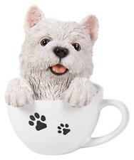 Vivid Arts-Pet Pals Cachorro Perro En Taza De Té & Westie Caja-West Highland Terrier