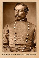 CIVIL WAR VINTAGE PHOTOGRAPH Confederate General PGT Beauregard CARD CDV