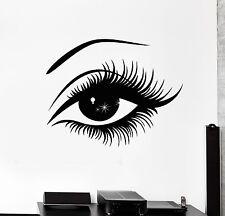 Wall Stickers Vinyl Decal Eye Lashes Hot Sexy Girl z1064