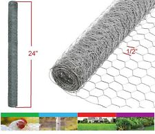 "2PK Galvanized Poultry Net 2x10' Metal Mesh Fencing Chicken Wire 20GA 1/2"" Holes"
