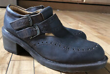 Dr. Martens Doc Maryjane Clogs Buckle Vintage Made In England Brown Us Size 10