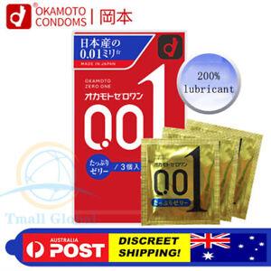 Okamoto 001 0.01 Plenty of Jelly Zero One Japanese Thinnest Condom Made in Japan