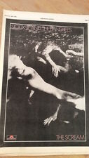 SIOUXSIE & Banshees Scream (red ink) 1978 Poster size Press ADVERT 16x12 inches