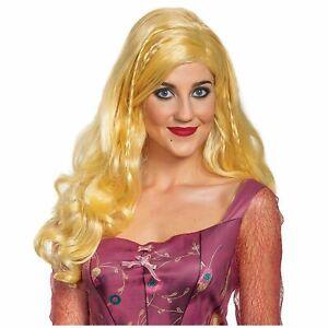 Disney Hocus Pocus Sarah Blonde Wig Salem Witch Adult Women's Costume Accessory