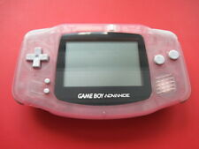 Nintendo Game Boy Advance Clear Transparent Pink Handheld System AGB-001 w Cover