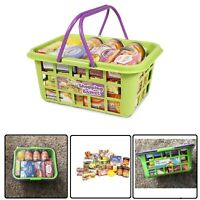 Kids Shopping Basket Food Grocery Childrens Pretend Play Toy Plastic Playset