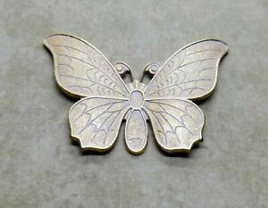 Large Matte Gold With White Patina Butterfly (1) - GWS6966