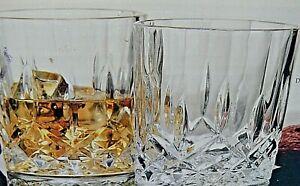 NEW/NIB 2 Av-SET/4 SHANNON-GODINGER OXFORD CRYSTAL DOUBLE OLD FASHIONED GLASSES