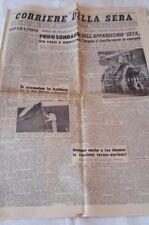 IL CORRIERE DELLA SERA-ANNO 1958 DEL 25 GENNAIO 1958- RARITA'
