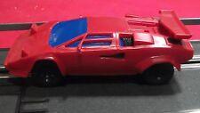 Artin 1:43 Slot Car NASCAR TYPE BLACK WHEELS Red Lamborghini  working headlights