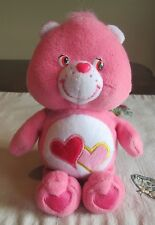 Care Bears  Love A Lot   Bear  PINK Hearts   STUFFED Plush TCFC 2003