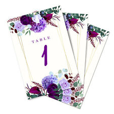 Table Place Cards for Wedding or Events Numbers 1-25 Doublesided - Size: 4 x 6