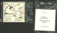 Canada Bk79 1978 Unopened Post Canada pack 5 Pictorial Code it Post it booklets