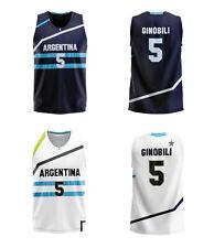 2012 London Manu Ginóbili #5 Team Argentina Basketball Jerseys Custom Names
