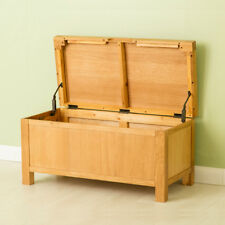 Abbey Oak Blanket Box / Modern Oak Waxed Low Hope Chest / Solid Wood / New