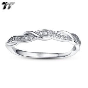 TT 3mm RHODIUM 925 Sterling Silver Engagement Wedding Band Ring (RW69) NEW