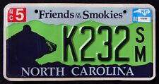 "NORTH CAROLINA "" WILDLIFE BLACK BEAR - SMOKIES "" NC Graphic License Plate"