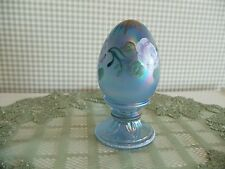 FENTON Art Glass Iridescent Hand Painted EGG Limited Edition and Artist Signed