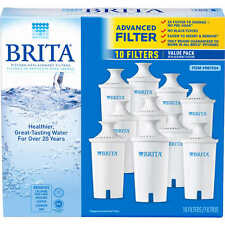 10 PACK Brita Water Filter Standard Replacement For Pitchers( 5 Count X 2)