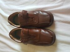 MENS CARAVELLE BROWN LIGHTWEIGHT SELF ADHESIVE FASTEN SHOES SIZE 7 WIDE FIT