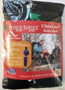 Frogg Toggs Ultra-Lite2 Rain Suit Jacket and Pants Khaki XL