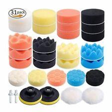 Car Drill Foam Sponge Polishing Kit Buffing Buffer Pads Set Waxing Polisher Tool