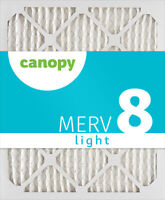 "14x20x1 Canopy Filters MERV 8, 13 1/2"" x 19 1/2"" x 3/4"", Box of 6"