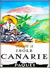 Canary Islands Isole Canarie Vintage Africa Travel Advertisement Poster Print