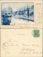 Ansichtskarte Neumünster Wasbeckerbrücke am Hamburgerhof 1899
