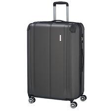 Travelite City, antracita, 77cm 124l 4 RAD trolley viaje maleta equipaje ampliable