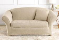 Cream Ivory Sofa Sure Fit Stretch  Jacquard Damask Slipcover slip cover