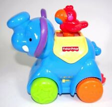 Amazing Animals Press Go Blue Elephant Musical Sound Music Baby Toy