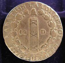 SUP 12 AAA 1791 A Luigi XVI L'AN 3 Roi des Francois