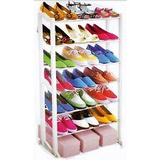 Zapato Rack Organizador ahorrador de espacio tiene 21 Pares 94 Cm de altura por 52cm Ancho Blanco