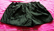 "Mens Black Thai Silk Boxer Shorts x 3 Sets / Underwear / 40""- 46"" Waist"