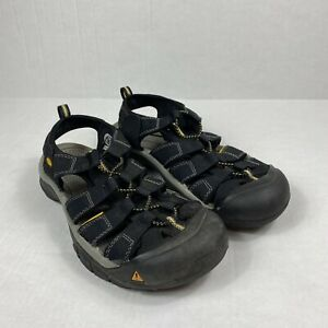 KEEN Mens Newport H2 Size 10.5 Waterproof Hiking Sandals Black 1001907