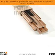 Kit stipite spazzolini guarnizioni porte scorrevoli a scomparsa scrigno ermetika