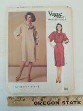 Vogue American Designer 1223 GEOFFREY BEENE Cowl Knee-Length Dress Pattern Sz 16