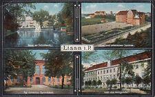 Ansichtskarte Posen  Lissa  Gericht  Gymnasium  Lehrerseminar etc.  1917
