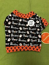 Dog Tshirt Size XS Black And Orange Ghost Busters Glow In The Dark