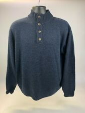 Gray Wool Sweater  Half Zip Pullover Sweater Mens XL,