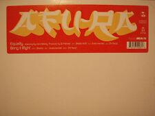 "AFU-RA + DJ PREMIER - EQUALITY b/w BRING IT RIGHT (12"")  2000!!!  RARE!!!"