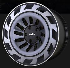 19X8.5 Radi8 T12 5x112 +45 Dark Mist Rims Fits audi a3 tt(MKII) gti (MKV,MKVI)